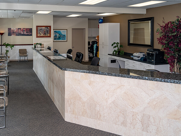 The front desk in your Cottage Lake Family Dentistry modern office